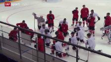 Video «Eishockey: Training der Schweizer Nati» abspielen