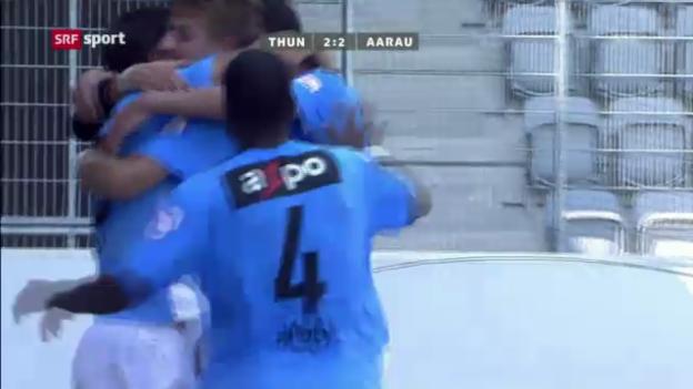 Video «Zusammenfassung Thun - Aarau («sportpanorama»)» abspielen