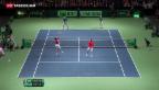 Video «Schweiz im Davis Cup im Rückstand» abspielen