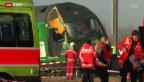 Video «Zugunglück in Rafz: Lokführer überfuhr Signal» abspielen
