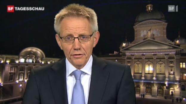Video «Einschätzungen von Hanspeter Trütsch, SF-Bundeshausredaktor. (»Tagesschau» vom 09.03.2011)» abspielen