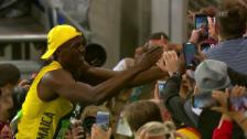 Video «Bolt lässt sich feiern» abspielen