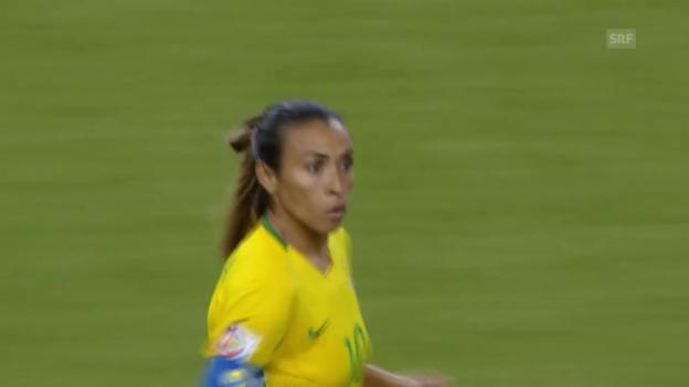 Video «Fussball: Frauen-WM 2015 in Kanada, Gruppe E, 1. Spiel Brasilien - Südkorea» abspielen