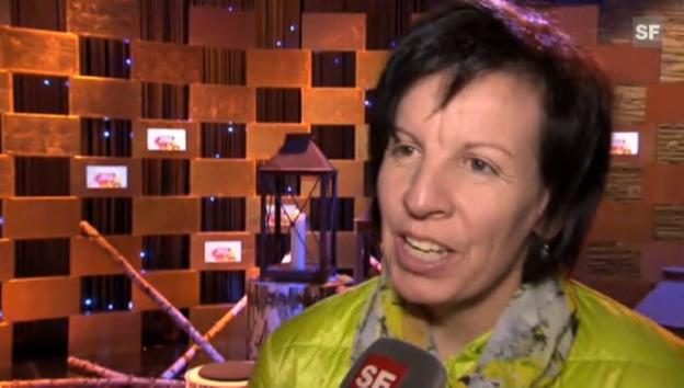 Video «Vreni Schneider als Schlagersängerin: Nervös vor grossem Auftritt» abspielen