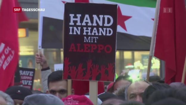 Video «Demonstrationen gegen den Krieg» abspielen