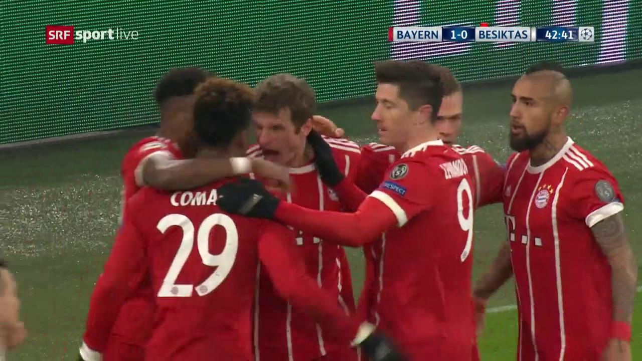 Das 1:0 für Bayern durch Thomas Müller