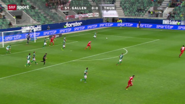 Video «SL: St. Gallen - Thun» abspielen