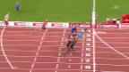 Video «Leichtathletik: Der Final über 110 m Hürden» abspielen