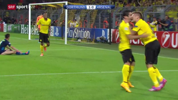 Video «Fussball: Champions League, Dortmund - Arsenal» abspielen