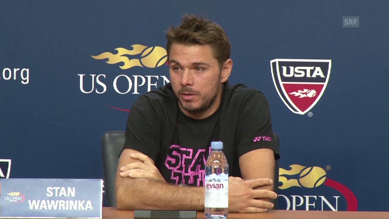 Tennis, US Open: Stan Wawrinka nach dem Spiel gegen Young (Quelle: SNTV)