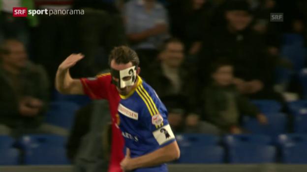 Video «Fussball: Marco Streller im «sportpanorama» über seine Maske» abspielen