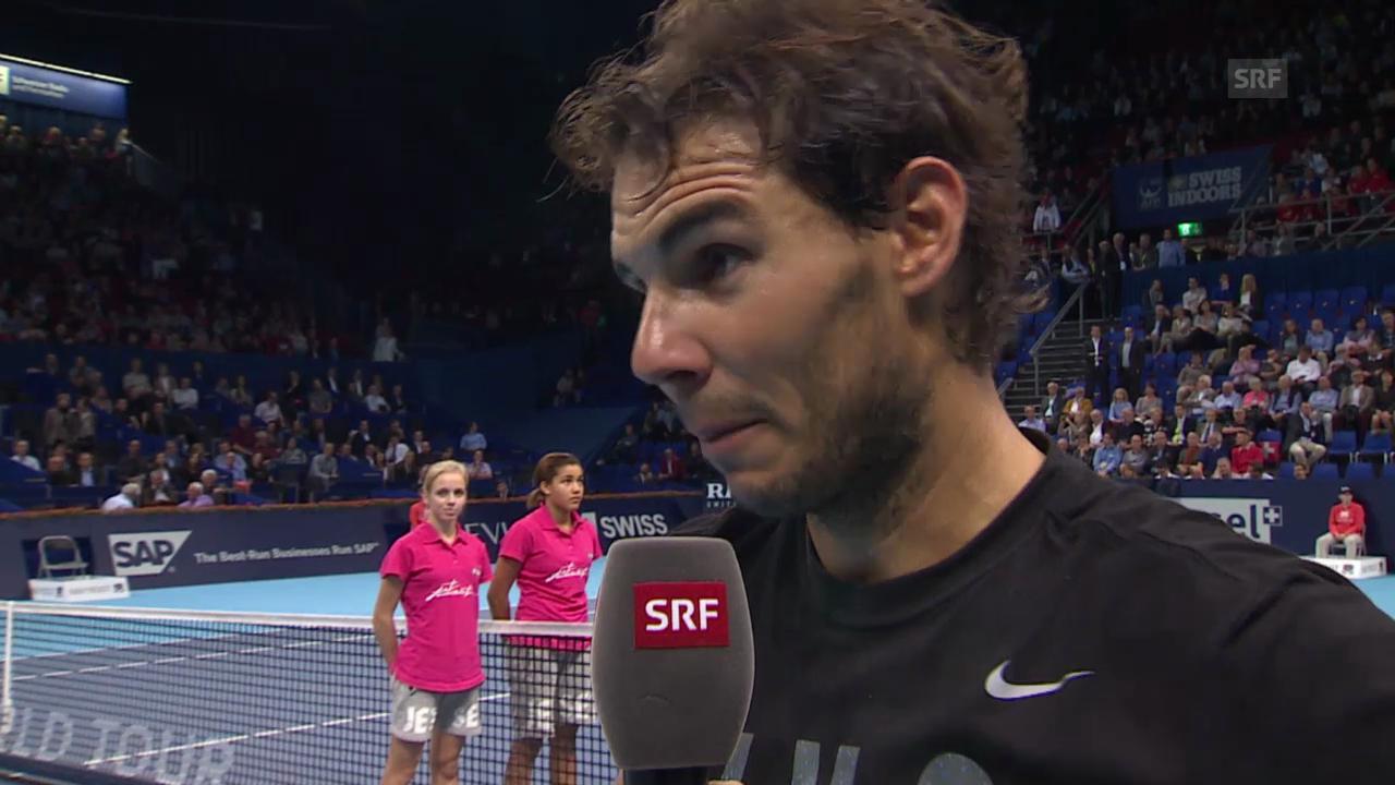 Tennis: Swiss Indoors, Nadal-Herbert, Interview Nadal