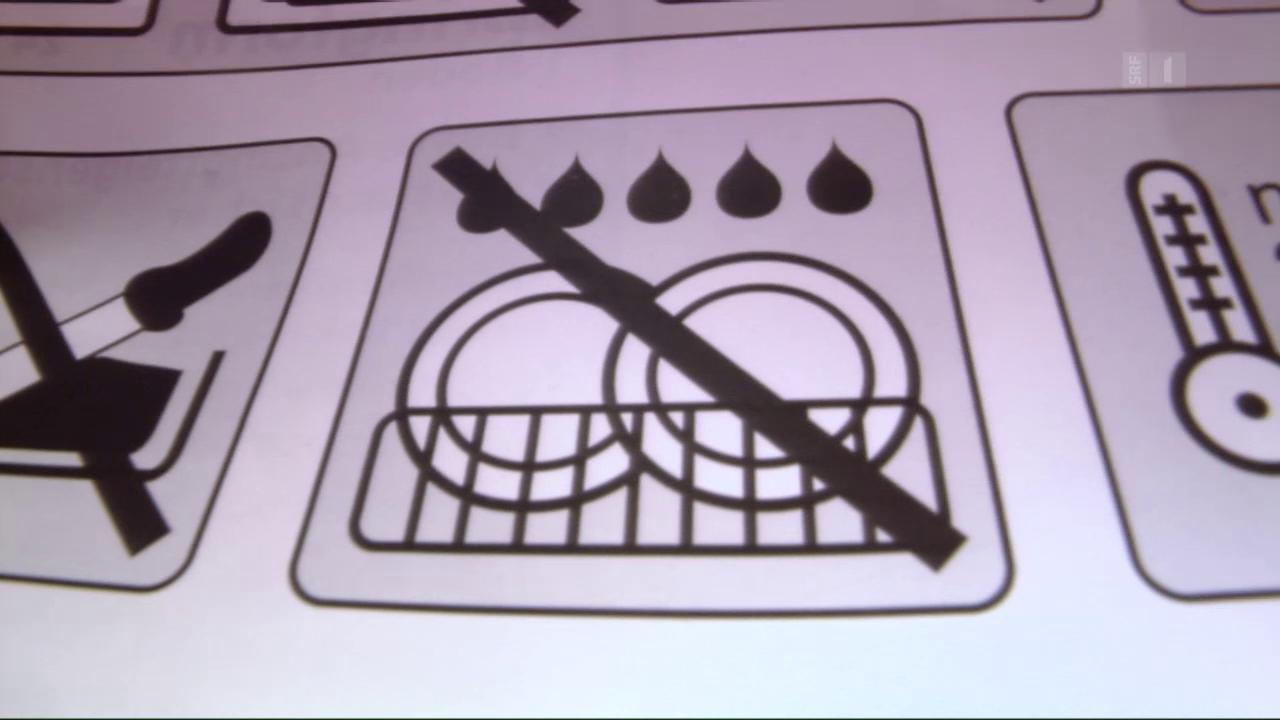 Falsche Putzhinweise: Backform rostet in Spülmaschine
