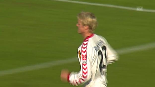 Video «2007: Mäkelä trifft für den FC Thun» abspielen