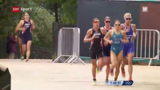 Video «London 2012: Triathlon, Spirigs Triumph im Frauen-Rennen («London at eight»)» abspielen