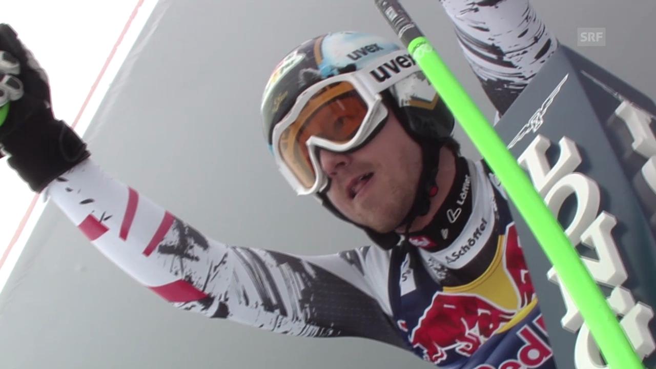 Ski: Abfahrt Kitzbühel 2014, Fahrt von Hannes Reichelt