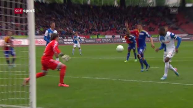 Video «Fussball: Zusammenfassung GC - Basel («sportpanorama»)» abspielen