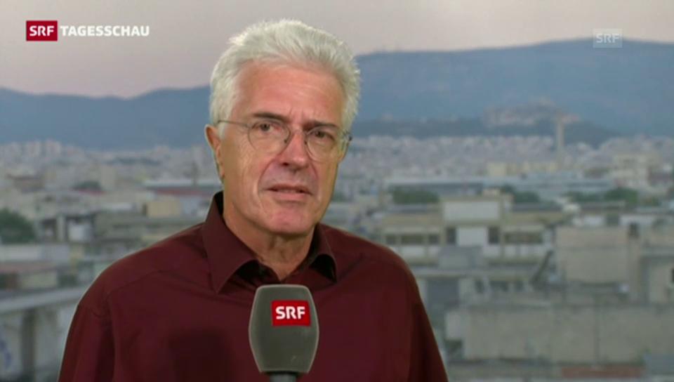 SRF-Korrespondent Werner van Gent zur neuen Regierung in Athen