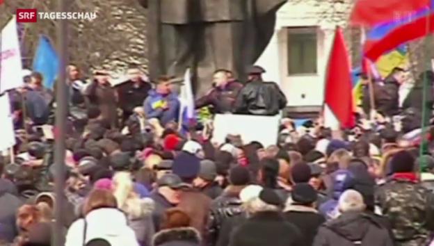 Video «Prorussische und prowestliche Demonstrationen» abspielen