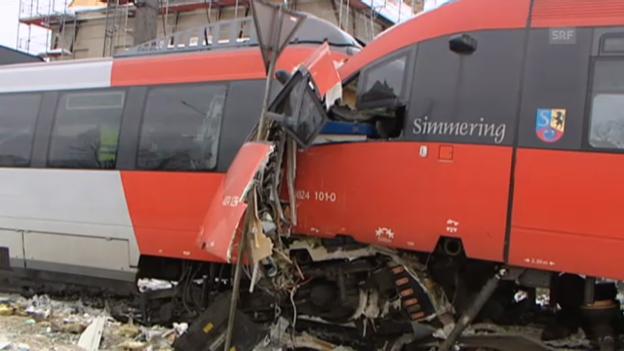 Video «Dutzende Verletzte bei Zugunfall in Wien» abspielen