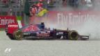 Video «Formel 1: GP Italien, Training, Max Verstappens Ausritt ins Kiesbett» abspielen