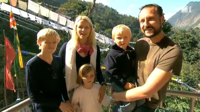 Norwegische Königsfamilie in Indien