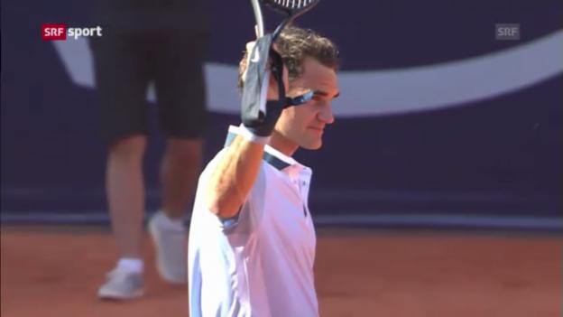 Video «Spielbericht Federer - Hajek («sportaktuell»)» abspielen