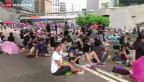 Video «Proteste überschatten Nationalfeiertag» abspielen