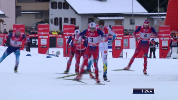 Video «Langlauf: Weltcup Davos, Skating-Sprint, Final Männer» abspielen