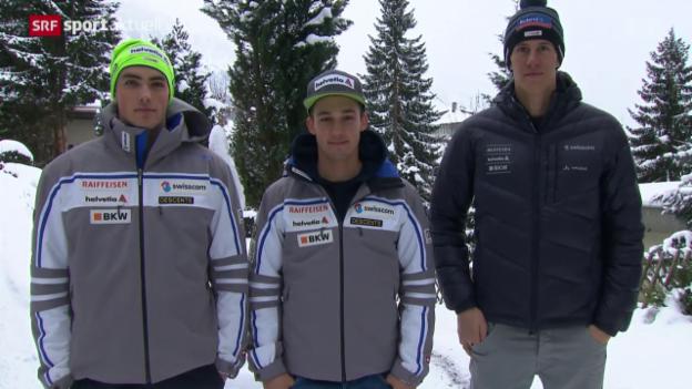 Video «Die Lage im Schweizer Lager vor dem Slalom in Wengen» abspielen