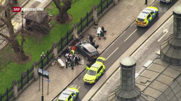 Video «Vier Tote bei Anschlag in London» abspielen