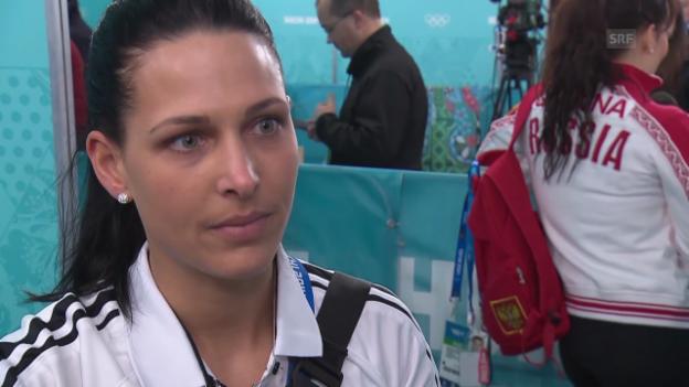 Video «Curling: Schweiz - Japan, Interview Carmen Schäfer (16.02.2014)» abspielen