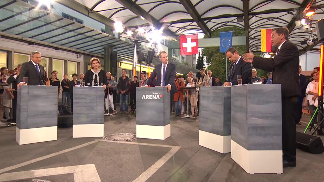 Wahl-Arena: Die Schweiz, die EU und die Flüchtlingskrise