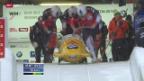 Video «Hochspannung an der Viererbob-WM nach den ersten beiden Läufen» abspielen