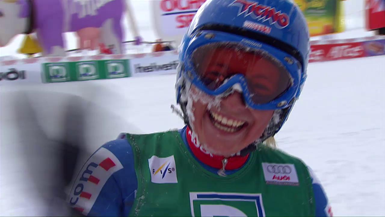 Lara Guts Sensationsfahrt in St. Moritz 2008