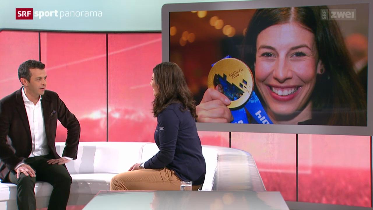 Ski: Gespräch mit Studiogast Dominique Gisin, Teil I