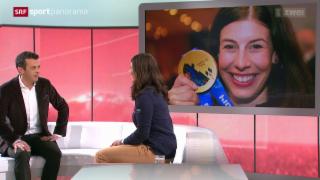 Video «Ski: Gespräch mit Studiogast Dominique Gisin, Teil I» abspielen