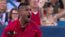 Link öffnet eine Lightbox. Video Kyrgios schlägt Nadal im Cincinnati-Viertelfinal abspielen