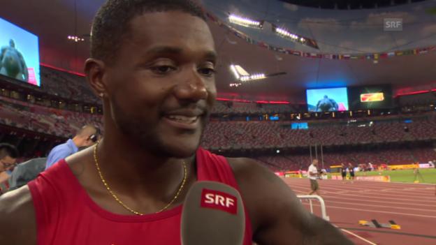 Video «Leichtathletik: WM Peking, Interview Gatlin» abspielen