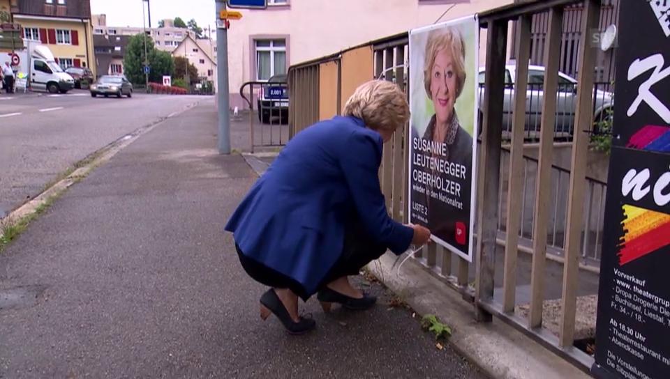 Plakatieren mit Susanne Leutenegger Oberholzer