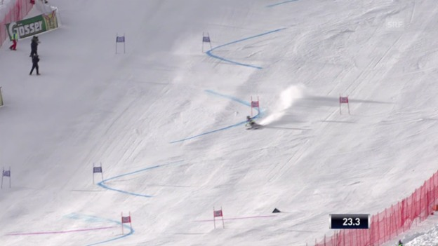 Video «Ski: Riesenslalom Sölden, Mikaela Shiffrins 1. Lauf» abspielen
