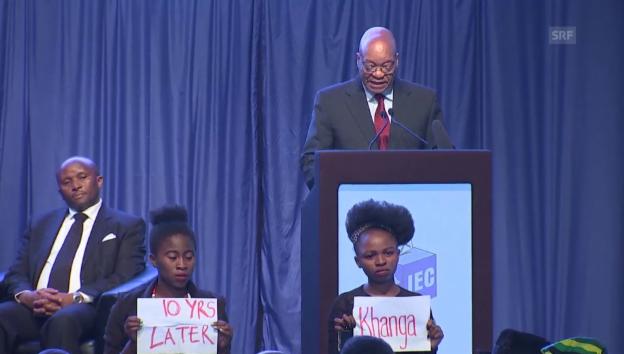 Video «Präsident Zuma über die Wahlen» abspielen
