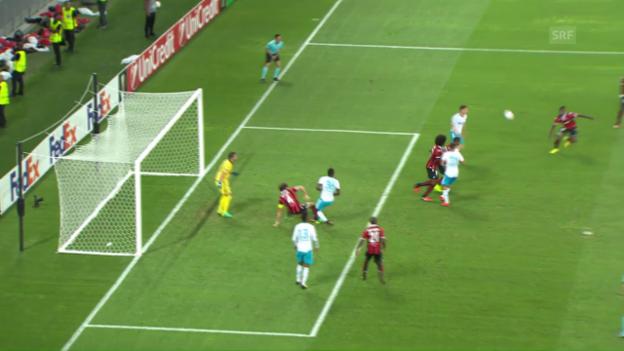 Video «Matchzusammenfassung Nizza - Schalke 04» abspielen