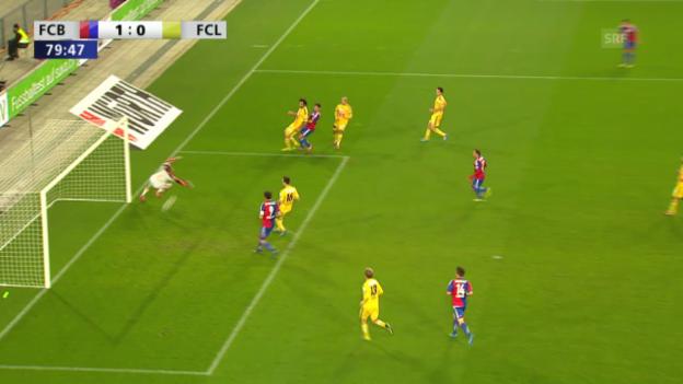 Video «Fussball: Cup-Halbfinal, Highlights Basel - Luzern («sportlive»)» abspielen