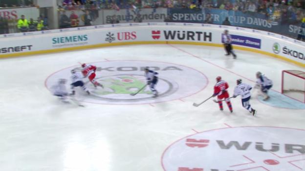 Video «Eishockey: Spengler Cup, ZSKA Moskau - Vitkovice («sportaktuell» vom 29.12.2013)» abspielen