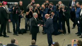 Video «Rückhalt für Juncker im EU-Parlament» abspielen