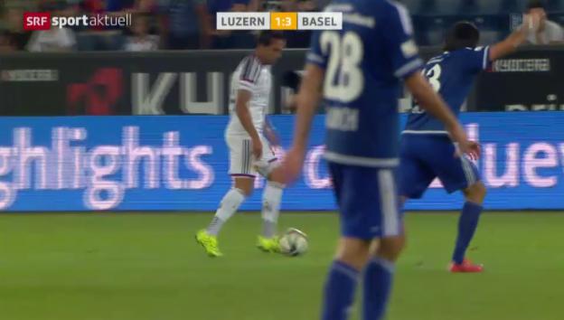 Video «Fussball: Delgados Tor gegen Luzern» abspielen