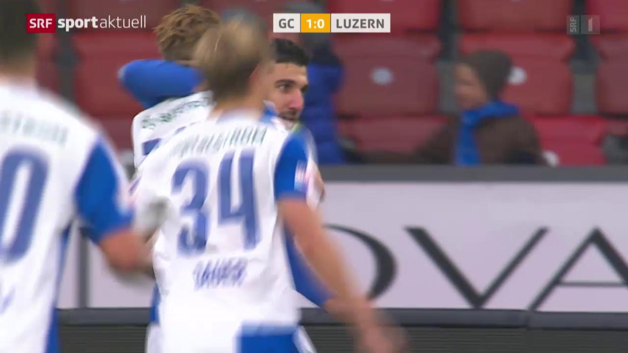 Fussball: Super League, GC - Luzern