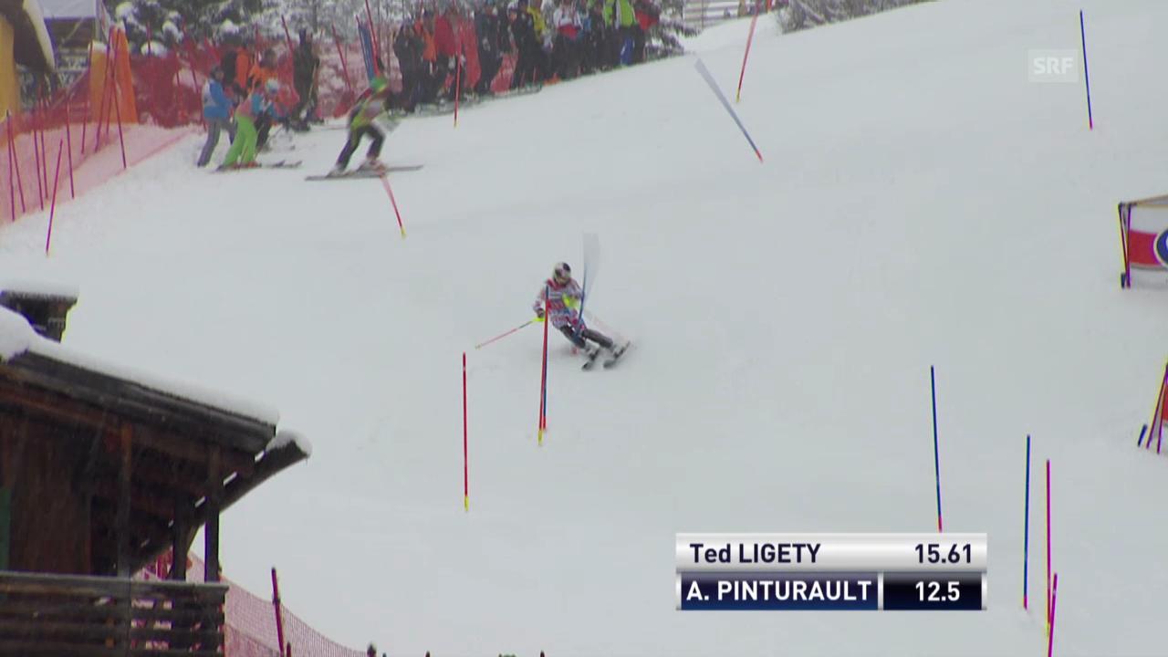 Ski: Weltcup, Super-Kombination, Slalom Pinturault