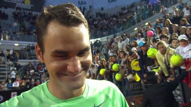 Video «ATP Rom: Federer im Platzinterview (englisch)» abspielen